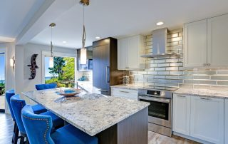 Property settlement. Accompanying picture: modern kitchen room in a condo home