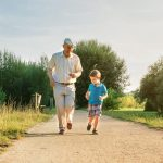 Grandparents rights. Accompanying image: Senior man and happy child running outdoors