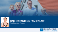 "A screenshot of a webinar ""Understanding family law"""
