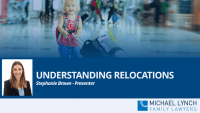 "A screenshot of a webinar ""Understanding relocations"""