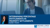 """There is no 50%/50% presumption or (even) starting point when it comes to how property is divided between divorcing couples. The percentage is determined by looking at the """"contributions"""" each party has made. This is an inexact science and will vary for every couple. This webinar will look at: The main categories of contribution and particularly how """"financial and non-financial contributions"""" are treated. What is """"future needs"""" and how is it treated? The treatment of gifts, inheritances, personal injury payments, redundancy payments and other common questions."""